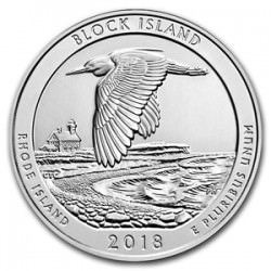 5 oz silver America The Beautiful Block Island Wildlife Refuge 2018