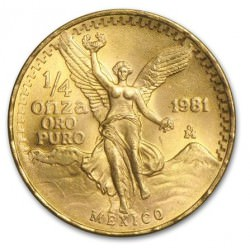 1/4 oz gold MEXICO LIBERTAD 1981