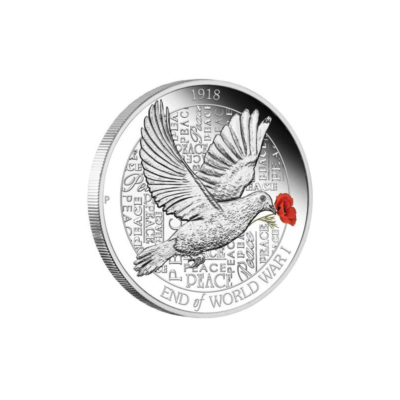 End Of Wwi 100th Anniversary 2018 1oz Silver Proof Coin