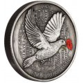 End of WWI 100th Anniversary 2018 5oz Silver Antiqued Coloured Coin