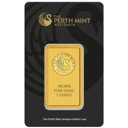 1 oz GOLD Bar PERTH MINT in essay card - certificate