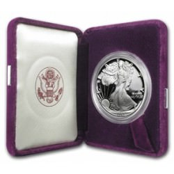 1 oz silver Eagle 1987 Proof Box + coa