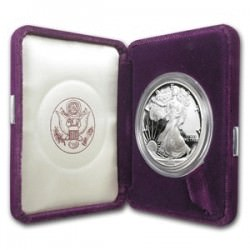 1 oz silver US EAGLE 1990 Proof - box + coa