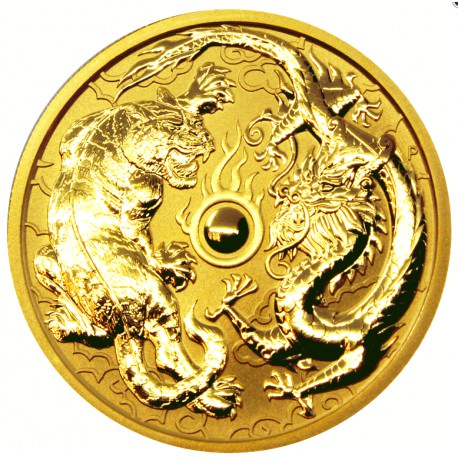 1 Oz Gold Dragon Amp Tiger 2019 Goldsilver Be