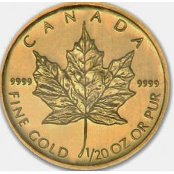1/20 oz gold MAPLE LEAF