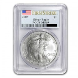 1 oz silver KRUGERRAND 2018 BU First Strike PCGS MS-69