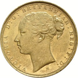FULL GOLD SOVEREIGN 1883