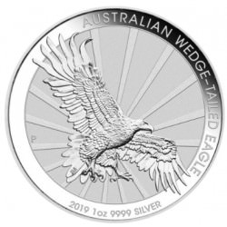 1 oz silver Perth Mint $1 WEDGE-TAILED EAGLE 2019