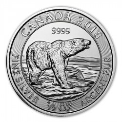 1/2 oz silver POLAR BEAR 2018
