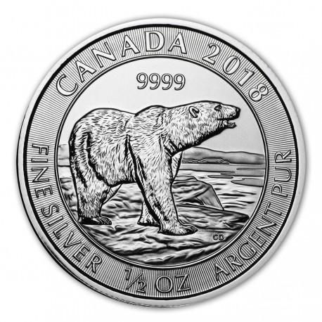 1/2 oz silver POLAR BEAR 2018