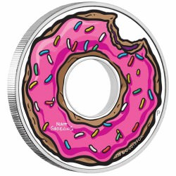 The Simpsons Donut 2019 1oz Silver Proof Coin