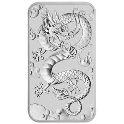 Perth Mint 1 oz silver RECTANGLE DRAGON $1 BAR 2019