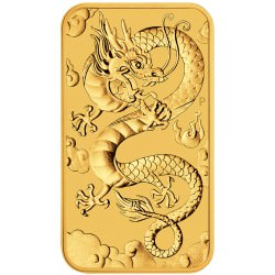 Perth Mint 1 oz RECTANGLE DRAGON $100 BAR 2019 GOLD