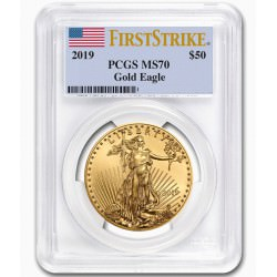 1 oz gold EAGLE 2019 PCGS MS-70 First Strike