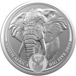 1 oz silver SAM BIG FIVE ELEPHANT 2019