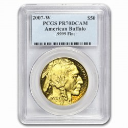 1 oz GOLD BUFFALO 2007 PROOF PCGS MS-70
