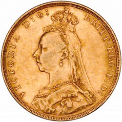 FULL GOLD SOVEREIGN 1887