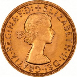 FULL GOLD SOVEREIGN 1957