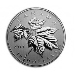 CANADA 1/2 oz silver MAPLE LEAVES 2019