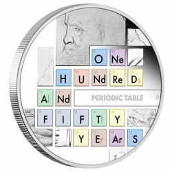 150th Anniversary of the Periodic Table 2019 1oz Silver Proof Coin MENDELEV