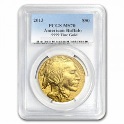 1 oz GOLD US BUFFALO 2013 - PCGS MS-70