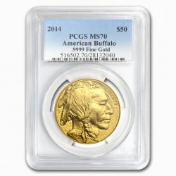 GOLD 1 oz GOLD US BUFFALO 2014 - PCGS MS-70