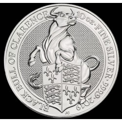10 oz silver Queen's Beast 2019 BLACK BULL OF CLARENCE £10