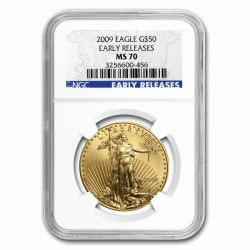 1 oz AMERICAN GOLD EAGLE 2009 ER G$50 NGC MS70