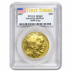 GOLD 1 oz GOLD US BUFFALO 2015 - PCGS MS-69 FS