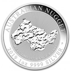 1 oz silver Welcome Stranger Nugget 2019