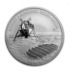 Perth Mint 1 oz silver ANNIVERSARY of MOON LANDING 2019