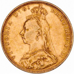 FULL GOLD SOVEREIGN 1893