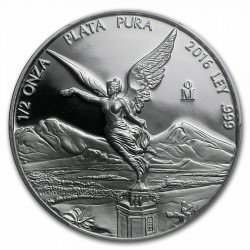 1/2 oz silver LIBERTAD 2016 PROOF