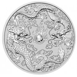 Pert Mint 1 oz silver DOUBLE DRAGON 2019