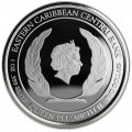 1 oz silver ST. LUCIA 2018 Eastern Caribbean N°8 / 8 Colored Proof Box + Coa