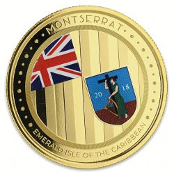 1 oz gold DOMINICA 2018 Eastern Caribbean n°3 / 8 Colored Proof Box + Coa