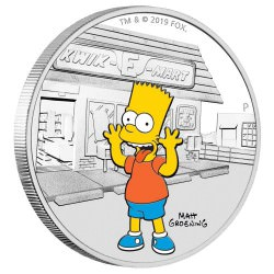 The Simpsons - Bart 2019 1oz Silver Proof Coin