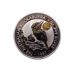 1 oz silver KOOKABURRA 1997 $1 Privy Dragon
