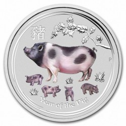 1/4 oz silver PIG 2019 colored
