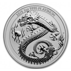 Perth Mint 1 oz Platinum DRAGON 2019 $100