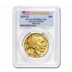 GOLD 1 oz GOLD US BUFFALO 2019 PROOF - PCGS PR70DCAM FS