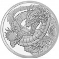 1 troy oz silver WELSH DRAGON