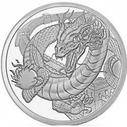 1 troy oz silver CHINESE DRAGON