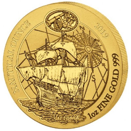 1 oz gold RWANDA NAUTICAL 2018 HMS Endeavour