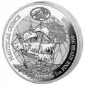 1 oz SILVER RWANDA NAUTICAL HMS Endeavour 2018 PP + COA