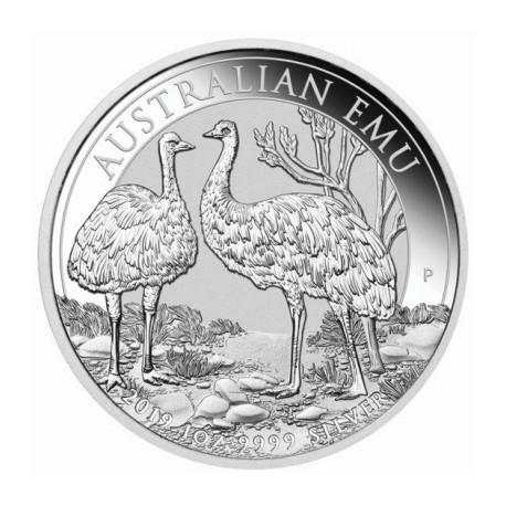 Perth Mint 1 oz silver EMU 2018