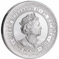 1 oz silver BRITISH TRADE DOLLAR St HELENA 2018 - 1st of the series