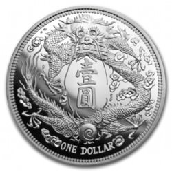 1 oz silver CHINA LONG-WHISKERED DRAGON DOLLAR