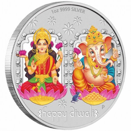 Diwali Festival 2018 1oz Silver $1 in Magic Frame GANESHA