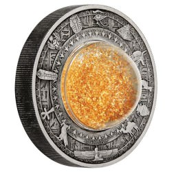 *** Golden Treasures of Ancient Egypt 2019 2oz Silver Antiqued Coin ***